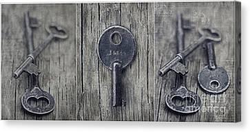 decorative vintage keys I Canvas Print by Priska Wettstein