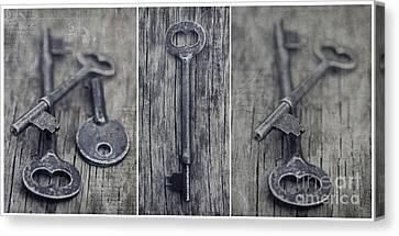 decorative vintage keys II Canvas Print by Priska Wettstein