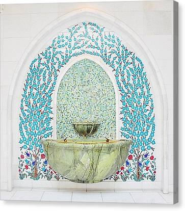 #decorative #wallceramic #grandmosque Canvas Print by Devi Gunawan