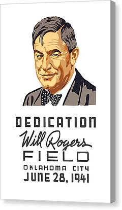 Dedication Will Rogers Field Canvas Print by War Is Hell Store