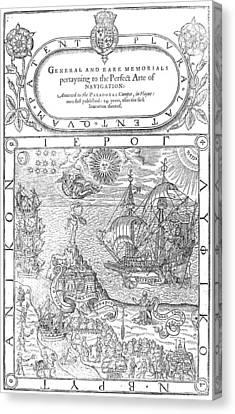 Dee Navigation, 1577 Canvas Print by Granger