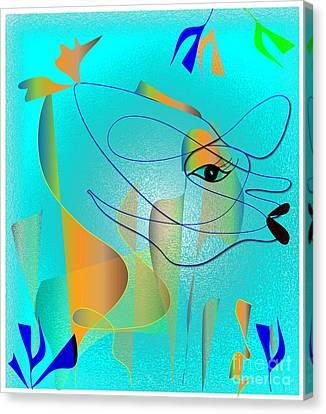 Deeep Below Canvas Print by Iris Gelbart