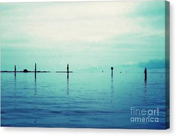 Deep Blue Bay Canvas Print by Scott Allison