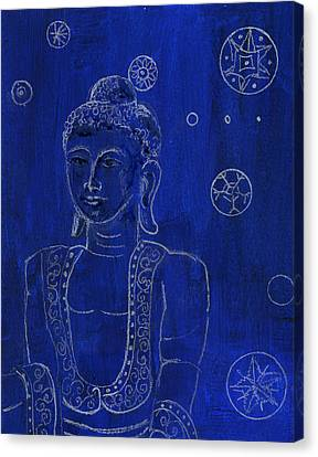 Deep Blue Buddha Canvas Print by Wendy Le Ber