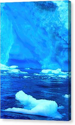 Canvas Print featuring the photograph Deep Blue Iceberg by Amanda Stadther