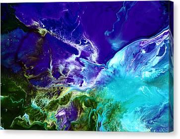 Deep Blue Sea Abstract Canvas Print by Serg Wiaderny