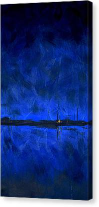 Deep Blue Triptych 1 Of 3 Canvas Print by Charles Harden