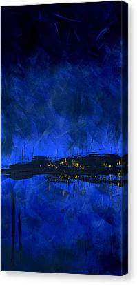 Deep Blue Triptych 2 Of 3 Canvas Print by Charles Harden