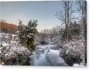 Deep Creek At Green Lane Reservoir - Pennsylvania Usa Canvas Print by Mother Nature