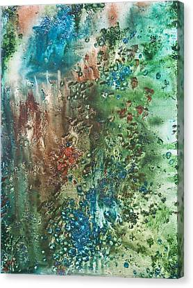 Wet On Wet Canvas Print - Deep Down - To The Soul Of The Sea by Sora Neva