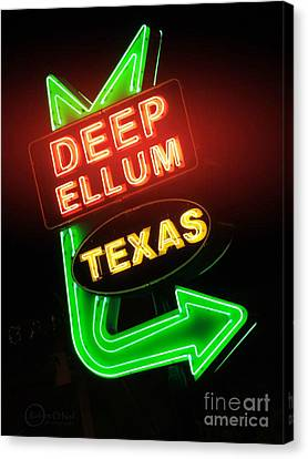 Deep Ellum Red Glow Canvas Print by Robert ONeil