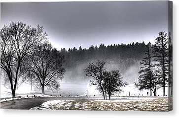 Deep Fog Over Marmo Canvas Print