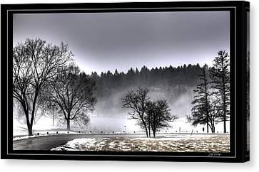 Deep Fog Over Marmo   Framed Canvas Print