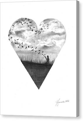 Deep In Our Hearts Canvas Print by J Ferwerda