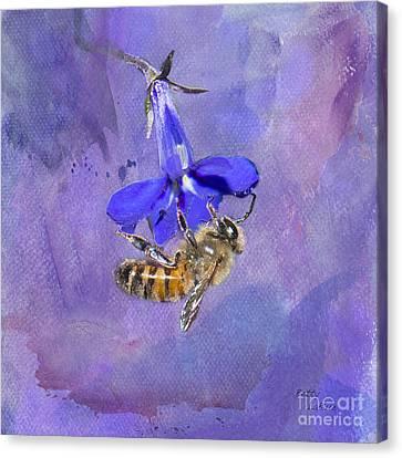 Deep In Purple Canvas Print by Betty LaRue