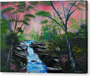 Deep In The Woods Canvas Print by Kevin  Brown