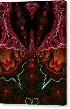 Canvas Print featuring the digital art Deep In Thought by Owlspook