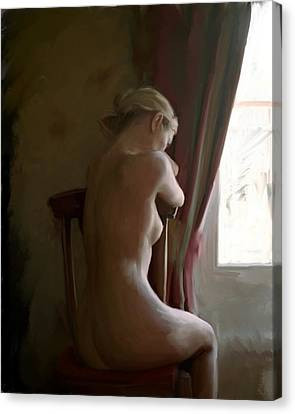 Deep In Thought Canvas Print by Snake Jagger