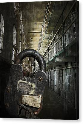 Deep Lockdown Alcatraz Canvas Print by Daniel Hagerman