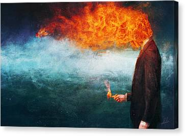 Explosion Canvas Print - Deep by Mario Sanchez Nevado