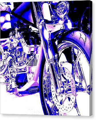 Deep Purple Art On Two Wheels Canvas Print