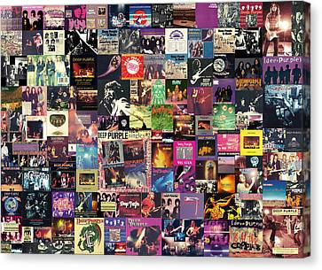 Deep Purple Collage Canvas Print by Taylan Apukovska