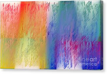 Deep Rich Sherbet Abstract Canvas Print by Andee Design
