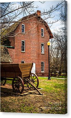 Deep River Wood's Grist Mill And Wagon Canvas Print by Paul Velgos