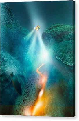 Deep Sea Exploration, Computer Artwork Canvas Print by Science Photo Library