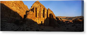 Deep Shadows At The Monastery, Al Deir Canvas Print by Panoramic Images