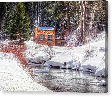 Deep Snow In Spearfish Canyon Canvas Print by Lanita Williams