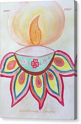 Deep Canvas Print by Sonali Gangane