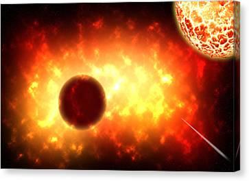 Deep Space Activity Digital Painting Canvas Print
