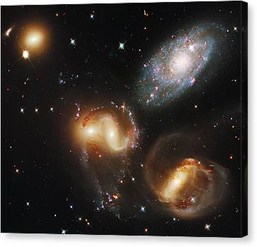 Deep Space Canvas Print - Deep Space Galaxies by Jennifer Rondinelli Reilly - Fine Art Photography