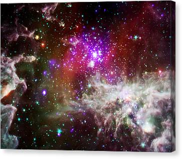 Deep Space Nebula 1 Canvas Print by Jennifer Rondinelli Reilly - Fine Art Photography