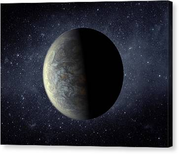 Deep Space Planet Kepler-20f Canvas Print by Movie Poster Prints