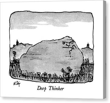 Deep Thinker Canvas Print