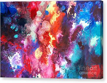 Deep Water Coral Canvas Print by Sally Trace