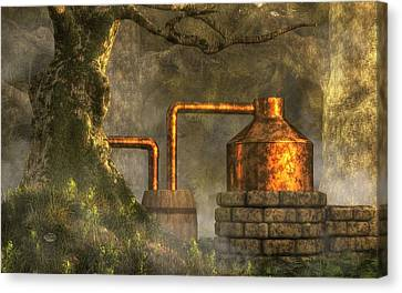 Deep Woods Still Canvas Print by Daniel Eskridge