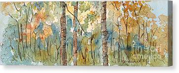 Deep Woods Waskesiu Horizontal Canvas Print by Pat Katz