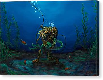 Deepsea Love Canvas Print by Andres  Soto