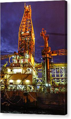 Deepwater Millenium 20 Miles Off Coast Of Ghana Canvas Print by Gregory Daley  PPSA