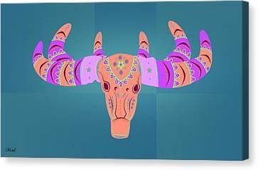 Deer 3 Canvas Print by Mark Ashkenazi