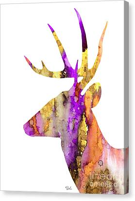 Deer 5 Canvas Print by Slaveika Aladjova