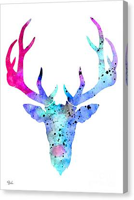 Deer 6 Canvas Print by Lyubomir Kanelov