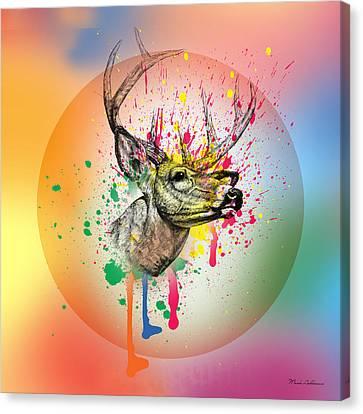 Deer 7 Canvas Print by Mark Ashkenazi
