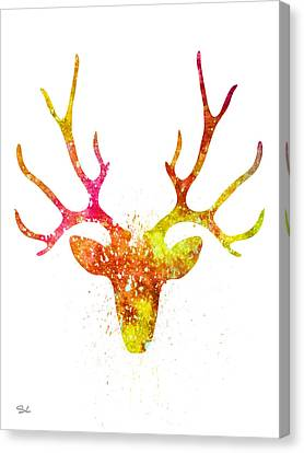 Deer  Canvas Print by Lyubomir Kanelov