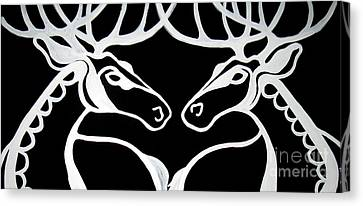 Deer Work Canvas Print by Amy Sorrell