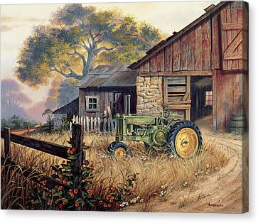 Deere Country Canvas Print by Michael Humphries