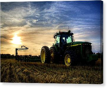 Deere Sunset Canvas Print
